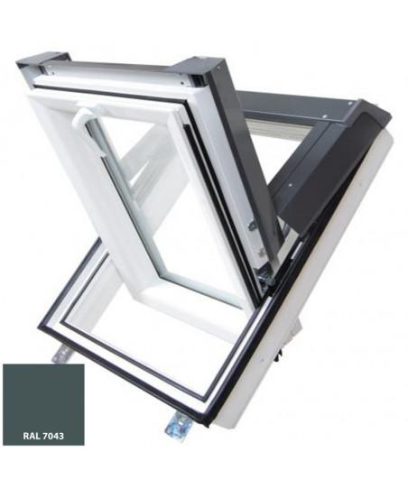 Střešní okno PVC výsuvně kyvné